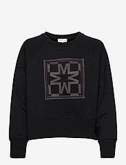 By Malina - Iconic cropped sweatshirt - sweatshirts & hoodies - black - 1