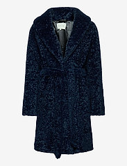 By Malina - Adrielle faux fur coat - faux fur - indigo blue - 1