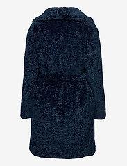 By Malina - Adrielle faux fur coat - faux fur - indigo blue - 2
