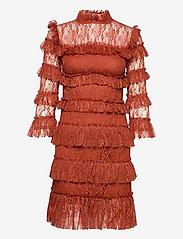 By Malina - Carmine mini dress - cocktailklänningar - burnt henna - 1