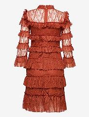 By Malina - Carmine mini dress - cocktailklänningar - burnt henna - 2