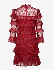 By Malina - Carmine mini dress - cocktailklänningar - ruby red - 1