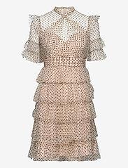 By Malina - Liona dotted dress - cocktailklänningar - soft beige - 1