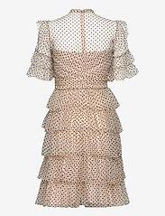 By Malina - Liona dotted dress - cocktailklänningar - soft beige - 2