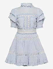 By Malina - Iro mini dress - spetsklänningar - sky blue - 1