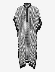 By Malina - Mollie kaftan - strandkläder - iconic print black - 1
