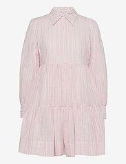 By Malina - Allie shirt dress - sommarklänningar - pale pink stripe - 1