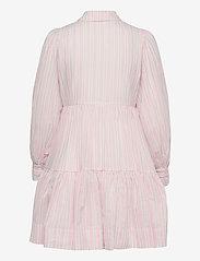 By Malina - Allie shirt dress - sommarklänningar - pale pink stripe - 2