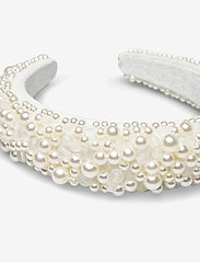 By Malina - Coco pearl headband - haar accessoires - ivory - 2