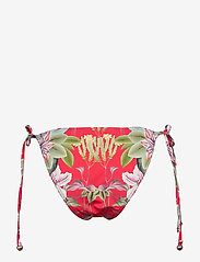 By Malina - Lexi bikini bottom - side tie bikinitrosor - electric jungle pink coral - 1
