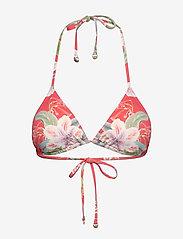 By Malina - Lexi bikini top - góry strojów kąpielowych - electric jungle pink coral - 0