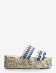 By Malina - Plateau raffia sandals - espadrilles mit absatz - ocean blue - 2