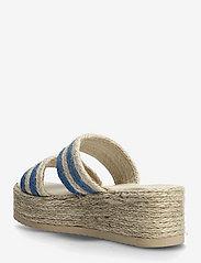 By Malina - Plateau raffia sandals - espadrilles mit absatz - ocean blue - 3