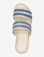By Malina - Plateau raffia sandals - espadrilles mit absatz - ocean blue - 4