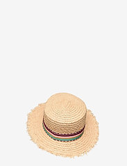 By Malina - Desert straw boater hat - stråhattar - inca coral rose - 2