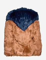 By Malina - Rocca faux fur jacket - faux fur - spiced honey-inc blue - 2