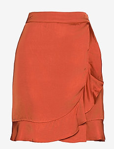 Deena skirt - korte nederdele - burnt henna