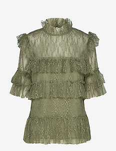Rachel blouse - HERB GREEN