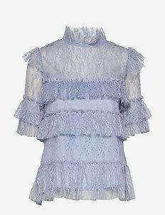 Rachel blouse - kortärmade blusar - lavender blue
