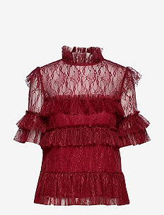 Rachel blouse - RUBY RED