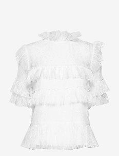 Rachel blouse - kortærmede bluser - white