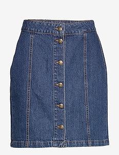 Celie skirt - farkkuhameet - washed blue