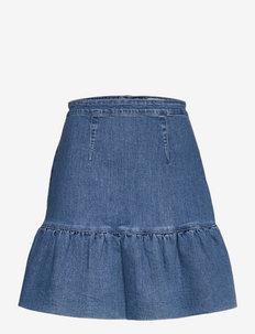Laurel denim skirt - korta kjolar - washed blue