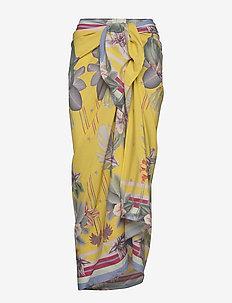 Beach sarong - stroje plażowe - electric jungle pineapple