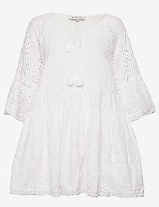 Fleur dress - korta klänningar - white