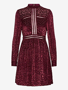Paolina mini dress - korte jurken - deep wine