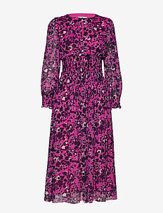 Sancia dress - SHADOW GARDEN PINK