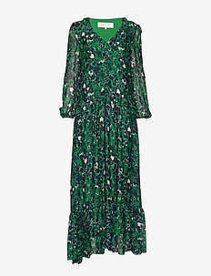 Palmina dress - robes longues - shadow garden green