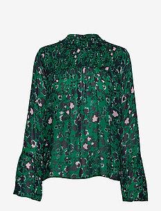Donna blouse - SHADOW GARDEN GREEN