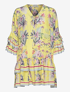 Kyla dress - korta klänningar - electric jungle pineapple