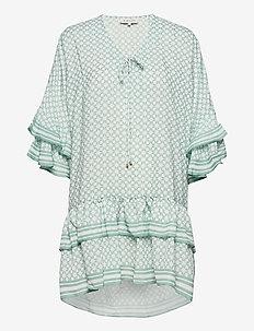 Kyla dress - festklänningar - iconic print sage