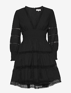 Inez dress - kurze kleider - black