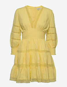 Inez dress - kurze kleider - lemon