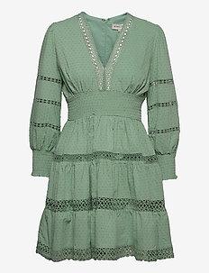 Inez dress - korta klänningar - sage