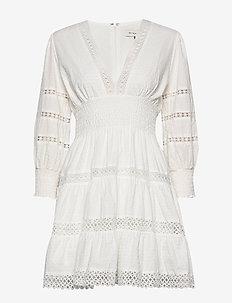 Inez dress - korta klänningar - white