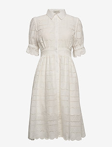 Roxanne dress - skjortekjoler - white