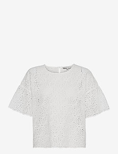 Callie blouse - kortärmade blusar - white