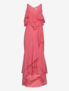 Chara dress - maxi kjoler - pink coral