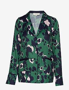 Gia shirt - SHADOW GARDEN GREEN