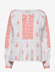 Rose blouse - langärmlige blusen - peach blush