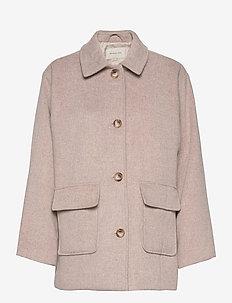 Claire jacket - wool jackets - soft beige
