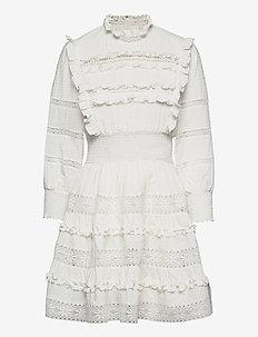 Emmie dress - sommarklänningar - white