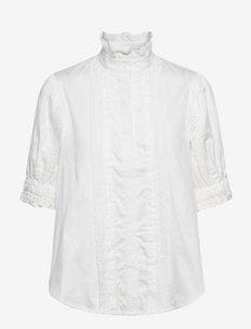 Nerea blouse - kortermede bluser - white