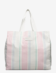 Iconic tote bag - shoppingväskor - iconic print candy pink