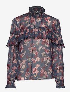 Lilia blouse - bluzki z długimi rękawami - magnolia indigo blue