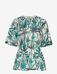 Mina blouse - kurzämlige blusen - beneath the palms